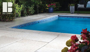 Light pavers around pool belgard