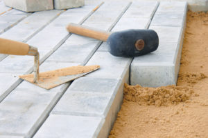 Rubber Mallet on pavers